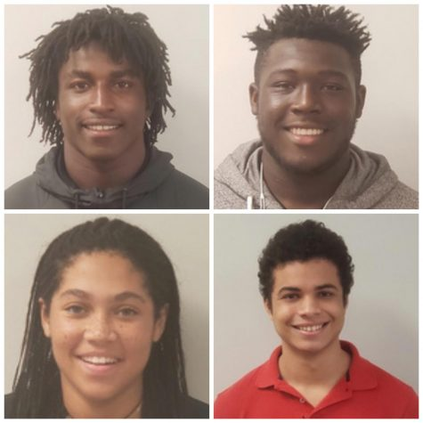 The Athletes of the Week for the month of September. Pictured above: Ronald Parker (top left), Maurice Jones (top right), Kevin Monjarrez (bottom right), Thais Forbes (bottom left)