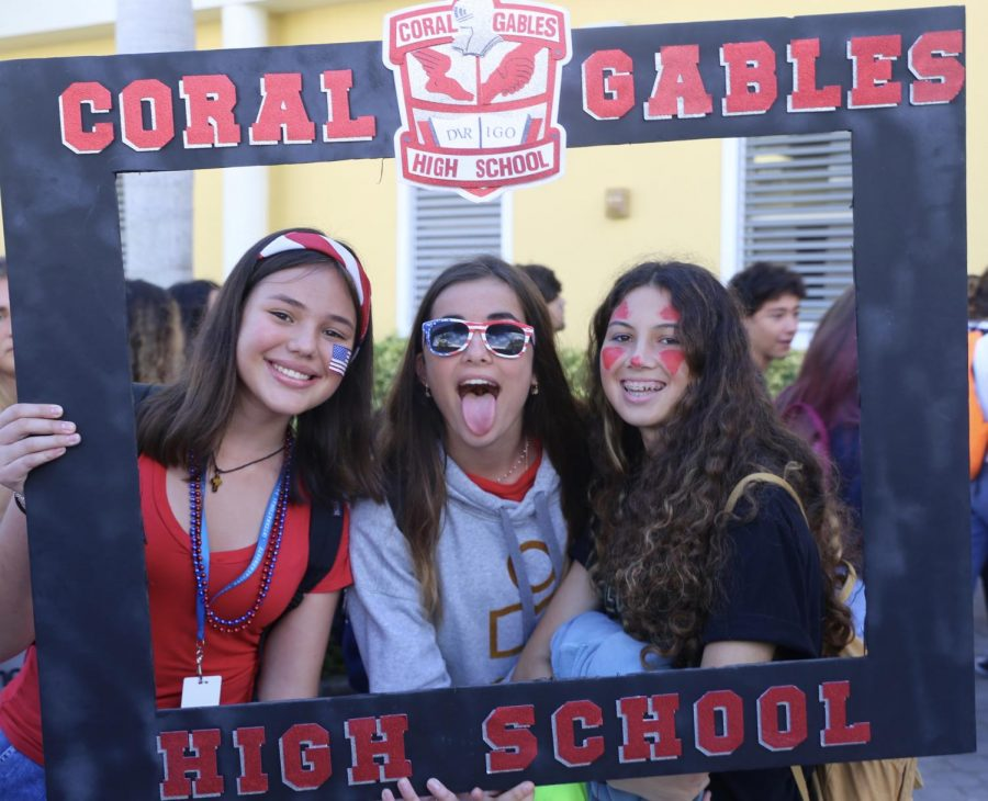 Students were excited to participate in the festivities going on throughout the day.