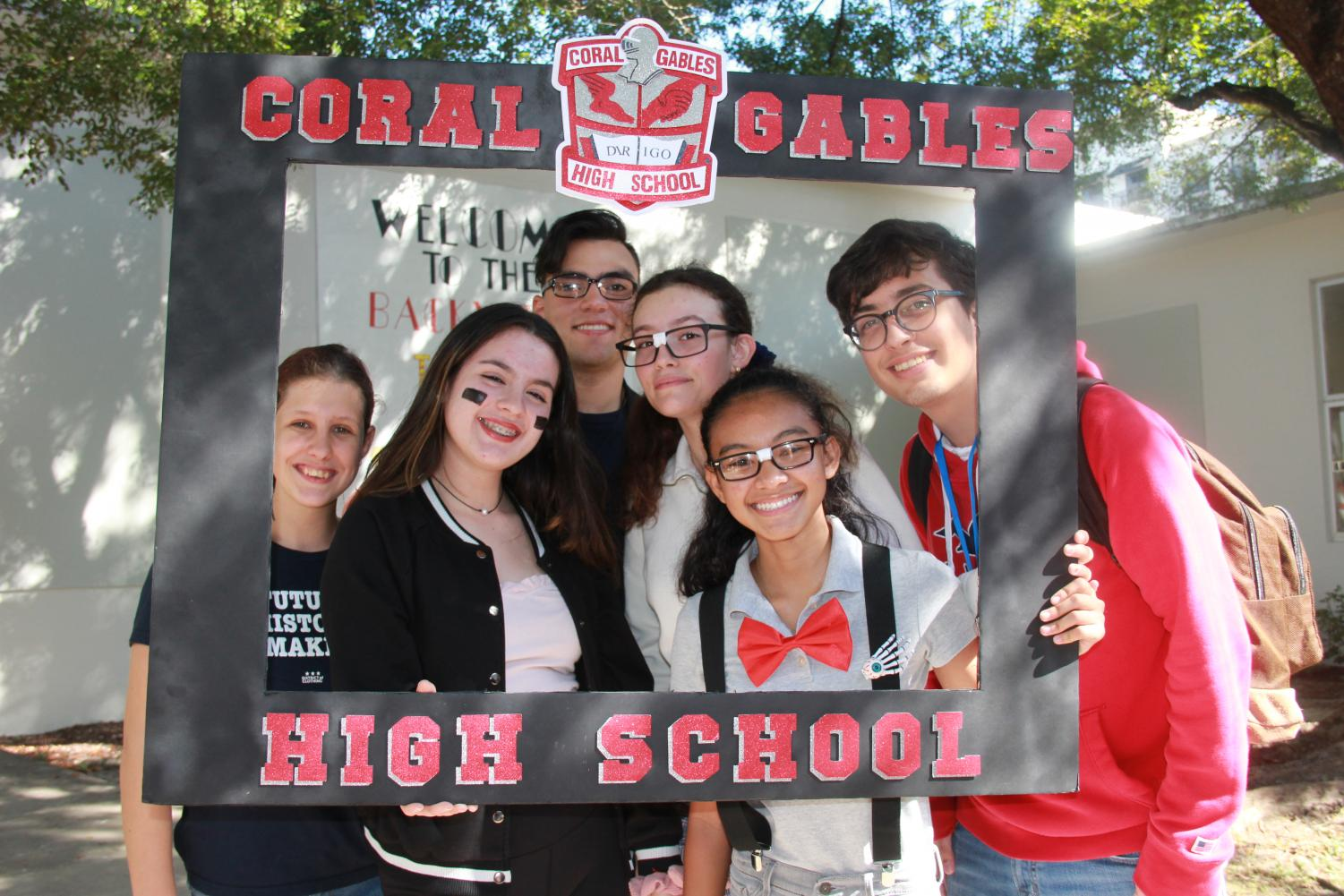 Students celebrate the fourth day of homecoming spirit week by dressing up as either a jock or a nerd.