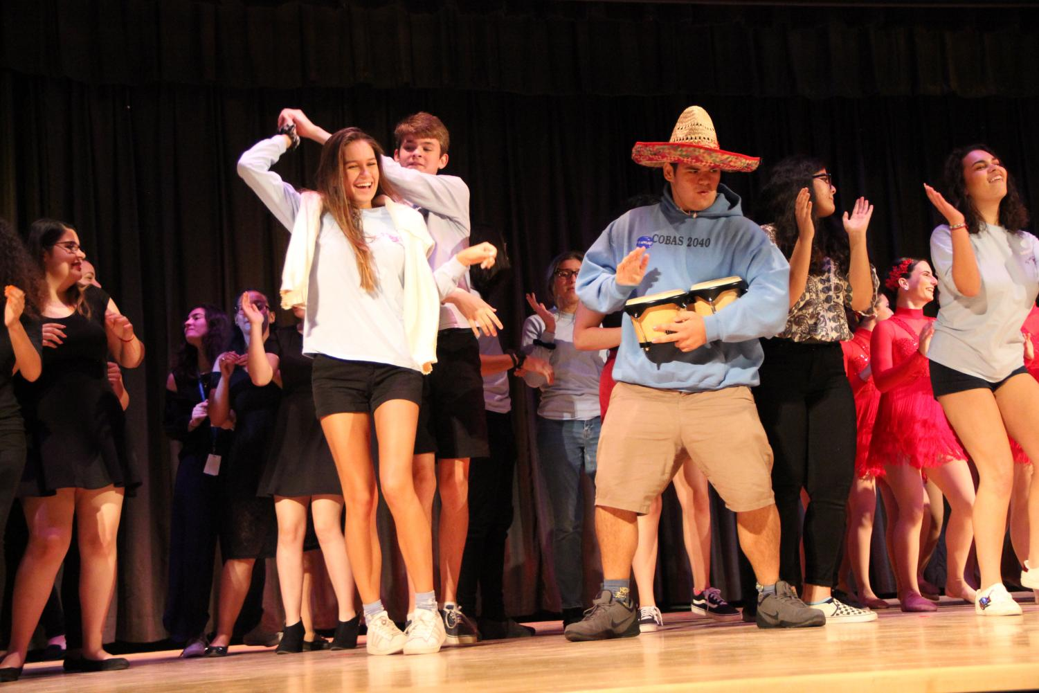 All the participants showed their Hispanic pride and joined Batlle during her last performance.