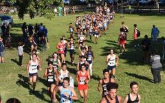 The Cavalier Cross Country runners taking on the