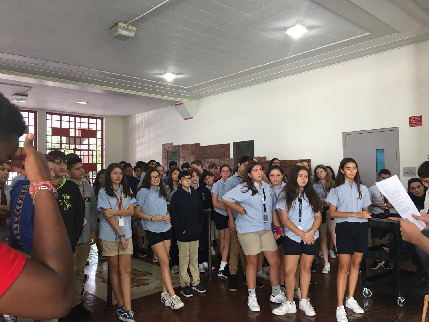 Some future Cavaliers from Coral Gables Preparatory Academy had taken a tour around our campus, learning of what Gables is made of.