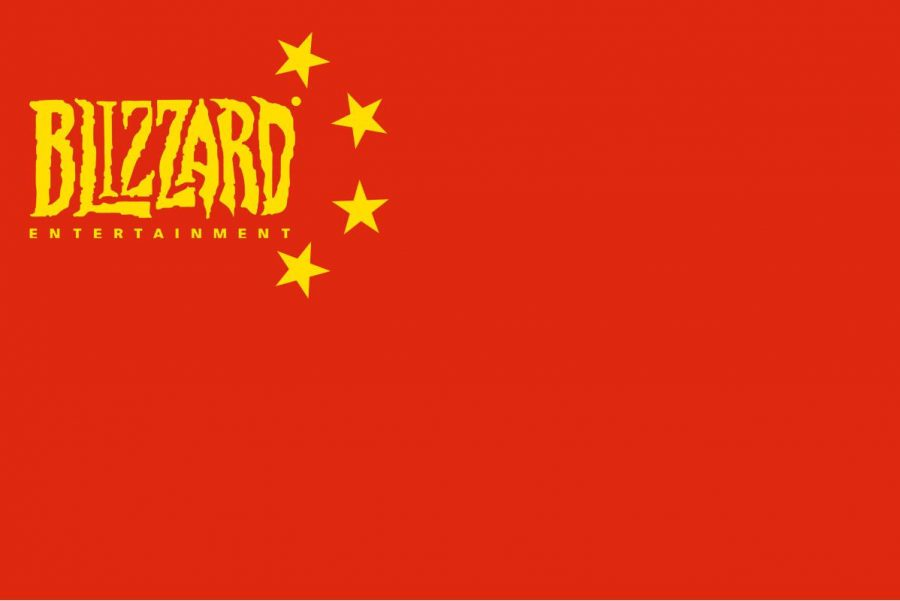 Blizzard's apparent pro-Chinese tendencies have gotten them marked as a pseudo-Chinese satellite organization, as seen in this flag.