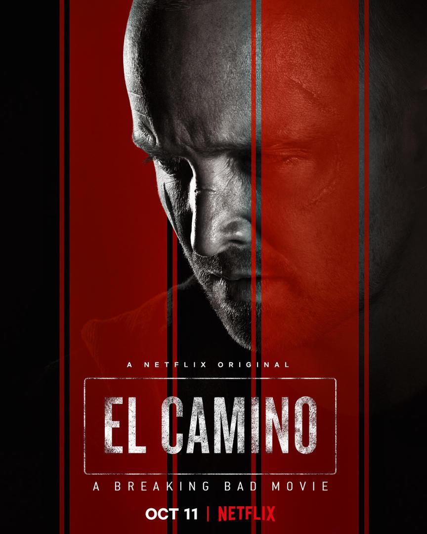 El Camino's movie cover featuring Aaron Paul