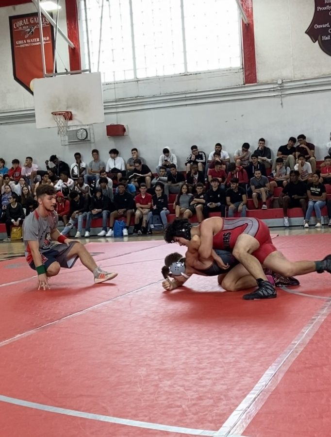 The wrestlers displayed no remorse as they trained to go against their opponents, harmlessly.