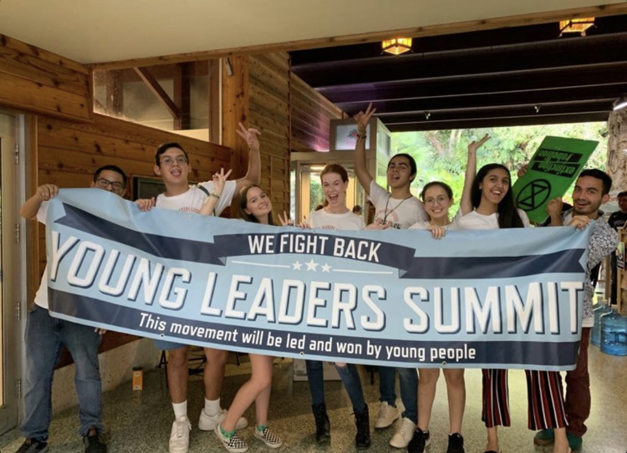The organizing team of Young Leaders Summit 2019 cheers in celebration of their hard work.