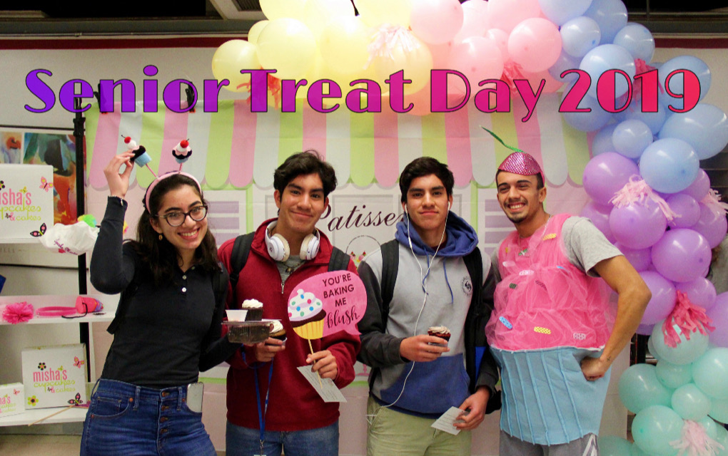 Senior students demonstrated their class pride while enjoying a delicious cupcake from Misha's Cupcakes.
