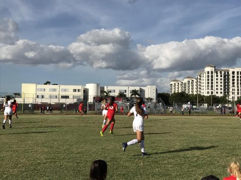 The Lady Cavalier Soccer team taking on the Palmetto Panthers at their home field in their 2019-2020 season debut.