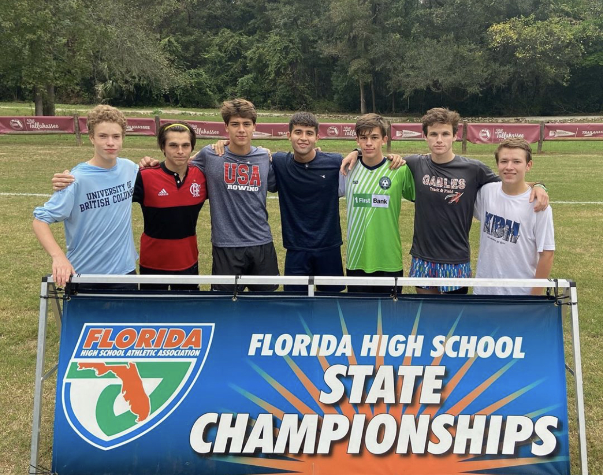 The runners at the cross-country State Championships, ready to run their personal bests.