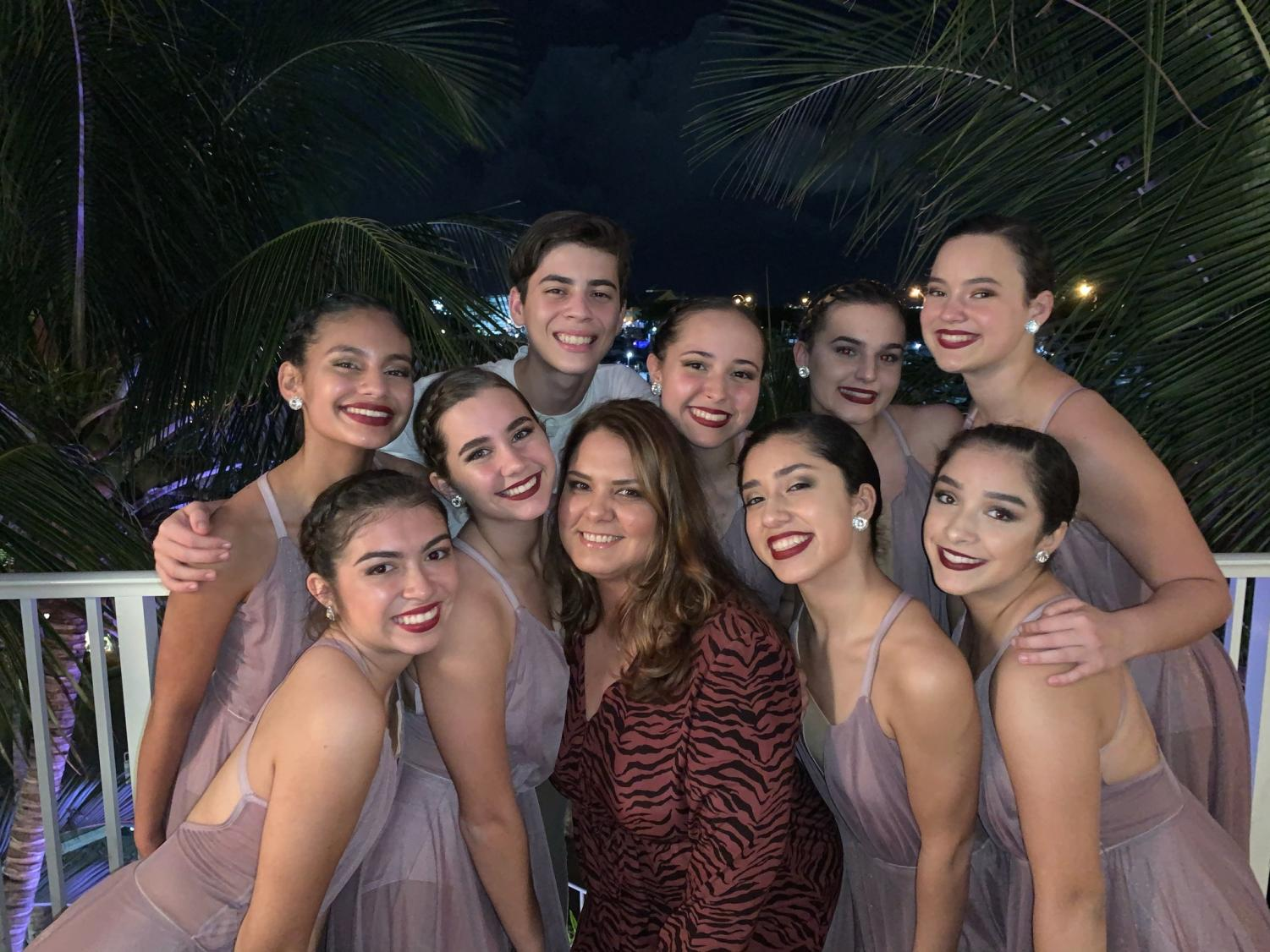 Part of the Gablettes team with Bertha Lowell while performing at the Kelsie Karpiak memorial event that took place on Sep. 7, 2019.