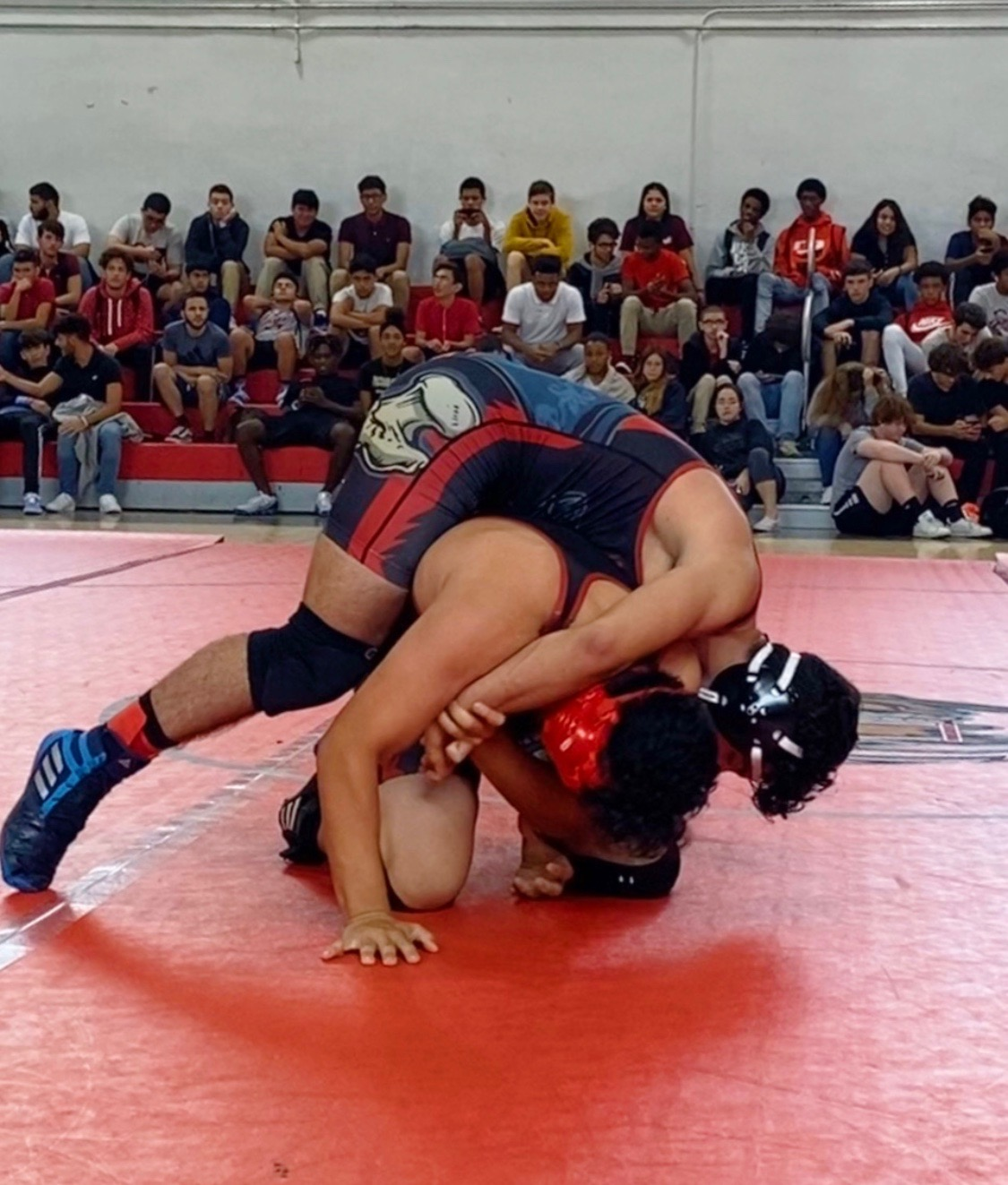 The Gables wrestlers competed against other players on the team to train for a future tournament.