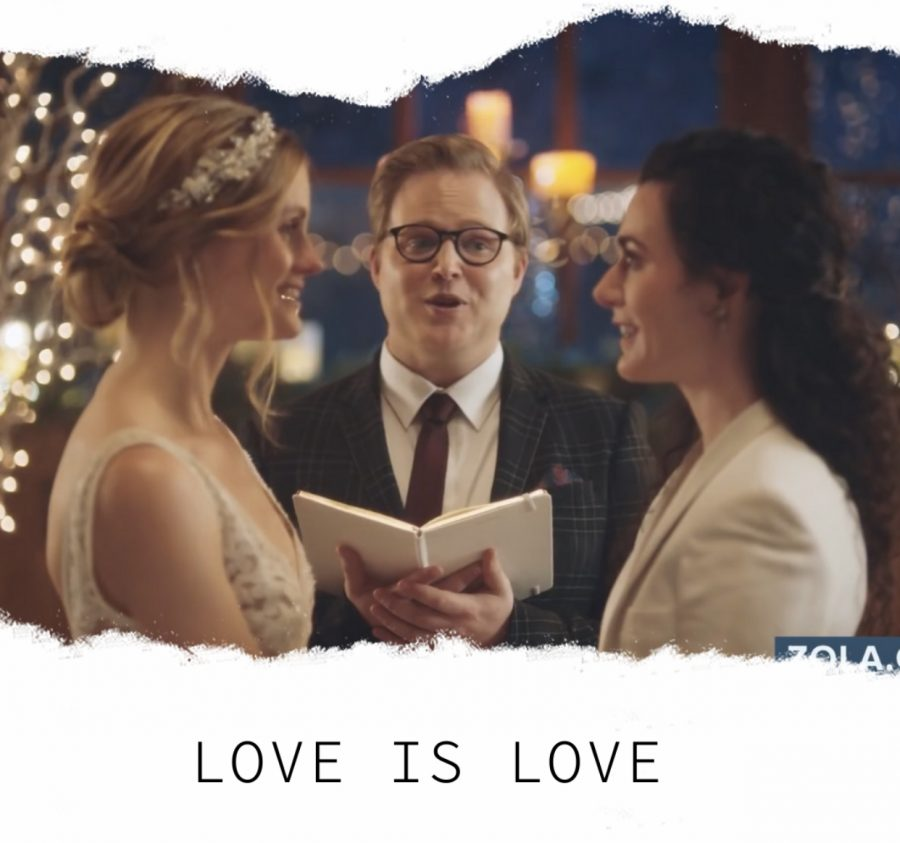 Hallmark took down a commercial made by the wedding planning website, Zola, due to One Million Moms' boycott.