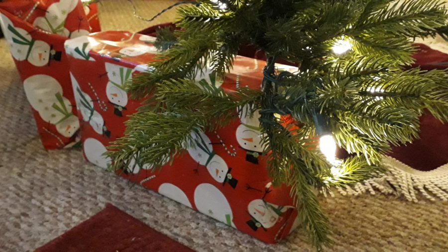 Wrapped gifts are anticipated on Christmas morning.