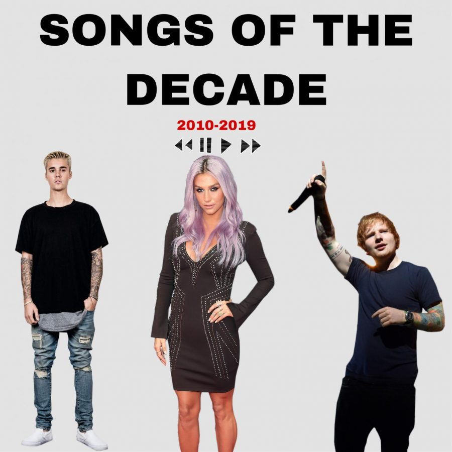 Justin Bieber, Ke$ha, and Ed Sheeran are some of the artists of the Decade.