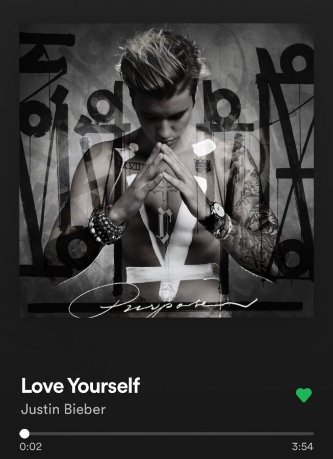 Justin Biebers Love Yourself from the album Purpose