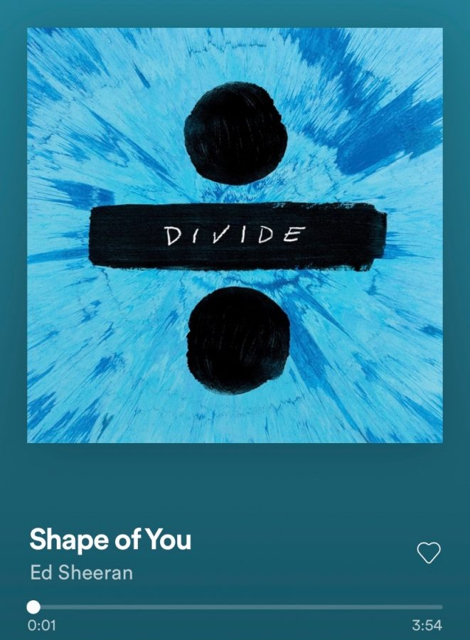 Ed Sheerans Shape Of You from his album ÷