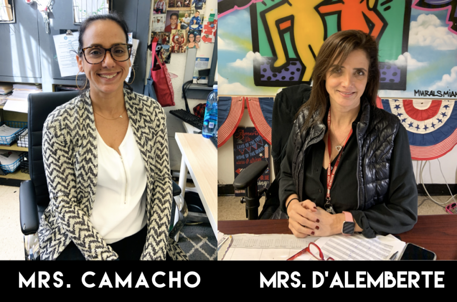 Mrs.+Camacho+and+Mrs.+D%27Alemberte+work+hand+in+hand+to+bring+school+spirit+throughout+the+school+year.