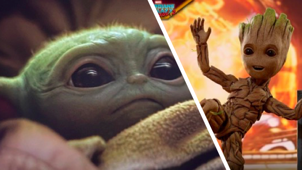 With that adorable little face there is not even a competition against baby Yoda.