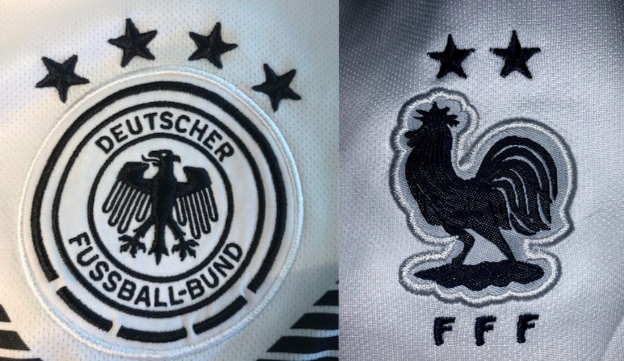 The German and French badges will be a common sight at the 2020 Union of European Football Associations (UEFA)soccer tournament.