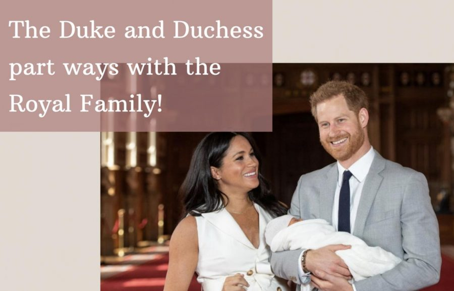 Meghan+Markle%2C+Prince+Harry+and+their+son%2C+Archie+laughing+during+an+interview.+