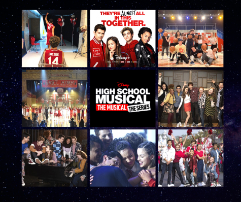 High School Musical: The Musical The Series cast in posters and behind the scene pictures