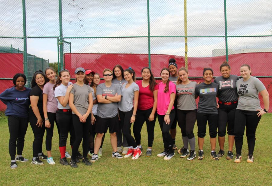 Taken on their home field, this image showcases the official players of the 2020 Lady Cavalier softball team. These ladies are determined to be ready for anything the 2020 softball season is going to throw their way.