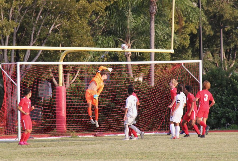 Senior Diego Acosta has been playing for the Cavalier soccer team since his sophomore year. He is the first string goalkeeper on the team and is one of the top goalkeepers in the district.
