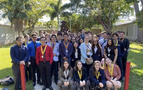 Future Business Leaders of America members got ready for their trip to Miami Dade College District competitions.