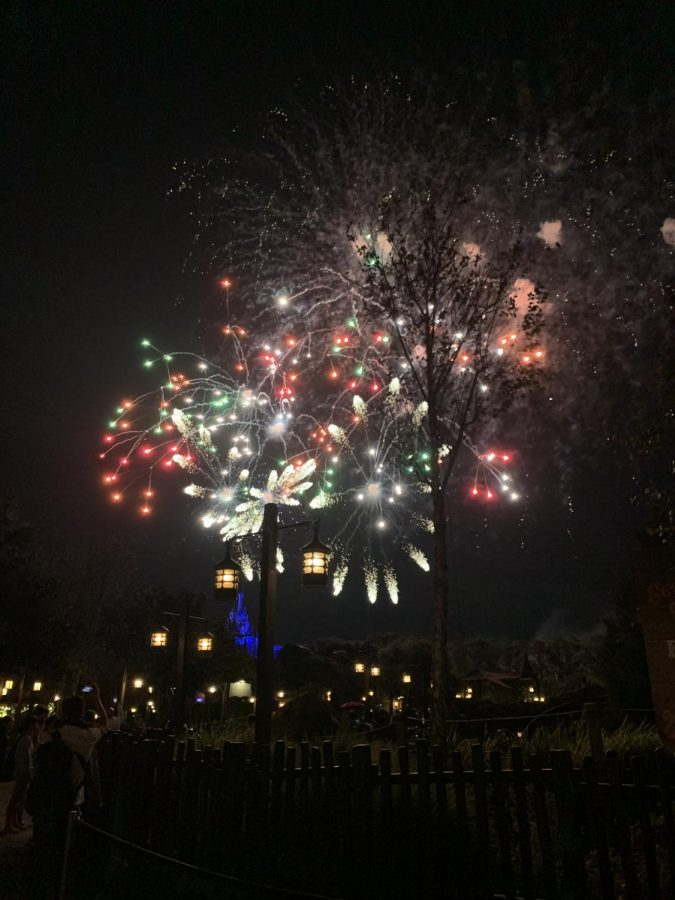 Once Upon a Time Firework show at Magic Kingdom.