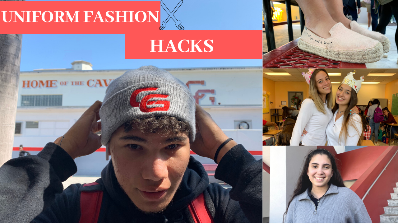Students express their style at Coral Gables High School while still following the uniform policy.