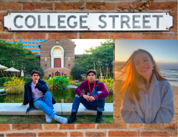 Seniors Luis Gonzalez, Braulio Gonzalez and Kylie Coulombe are all ready for college.