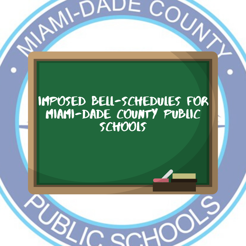 Miami-Dade County Public Schools has proposed two ideas of new bell schedules that hope to favor their students' well-being.