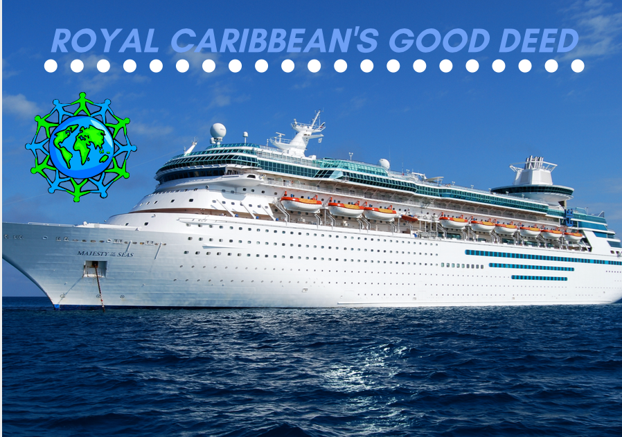 A+Royal+Caribbean+ship+out+at+sea.