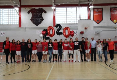 On Jan. 31, all eight of the seniors on the Lady Cavalier basketball team gathered on the court with their loved ones to celebrate their final game in the Cavalier gym.