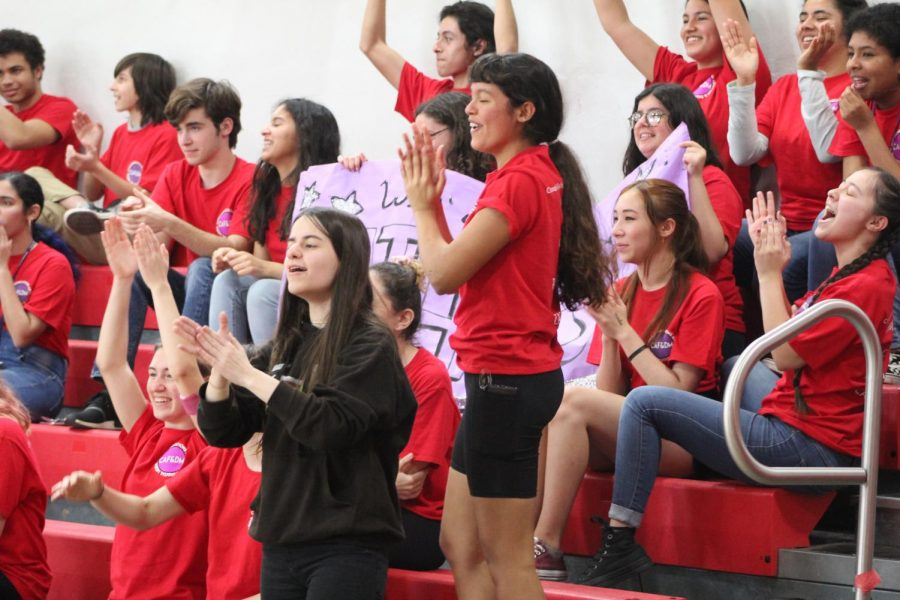 Publications eagerly cheered for their friends as they participated in the many games played.