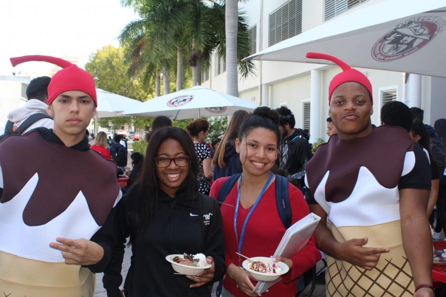The human sundaes made a special appearance that surprised many of the students.