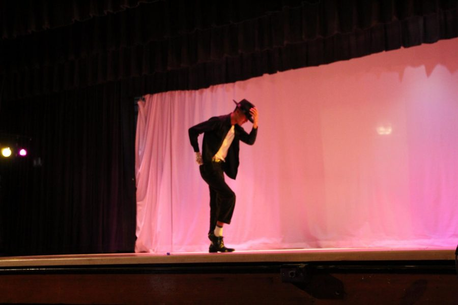 Senior Duniel Hernandez performed a solo dance to a Michael Jackson song where he moon-walked off the stage.
