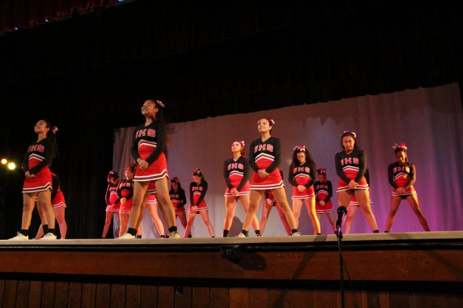 The cheerleaders perfumed a cheer and two dances in honor of Black History Month.