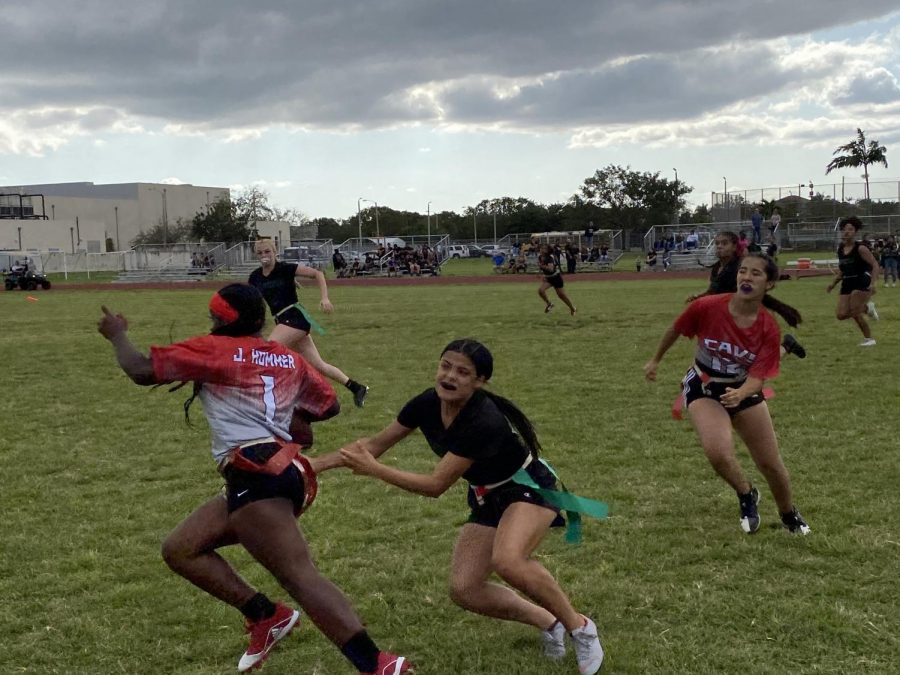 The Lady Cavaliers took on the Braddock Bulldogs on Friday, Mar. 7, where the Lady Cavaliers were able to evade the Bulldogs' defense and come away with a 21-0 victory.