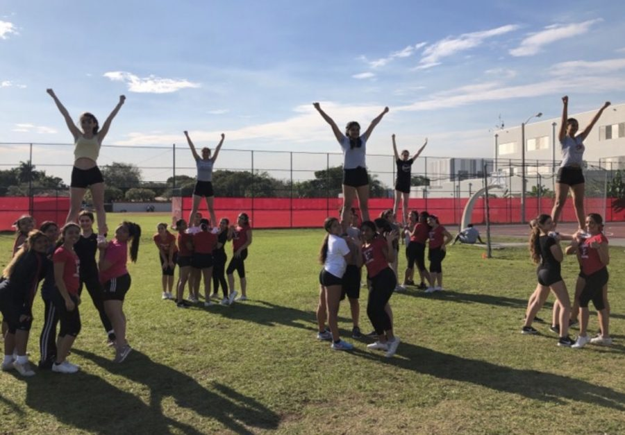 On Feb.27, the Cavalier cheer team hosted a stunt clinic after school, which helped new cheer candidates be more experienced stutters prior to tryouts.