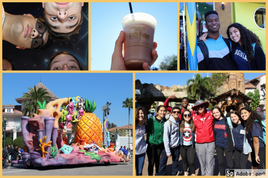 A collection of Grad Bash memories, from Spongebob Squarepants at Universal to Butter Beer in Islands of Adventure's Harry Potter World.
