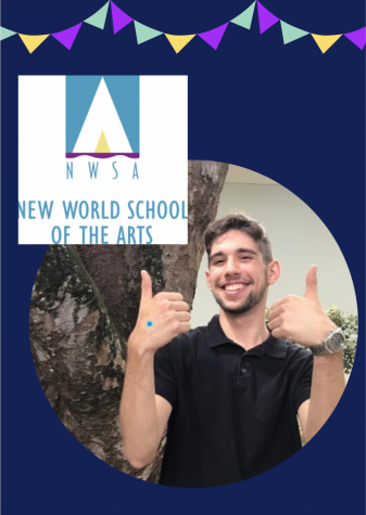Senior Jorge Valero excited to represent New World School of the Arts College.