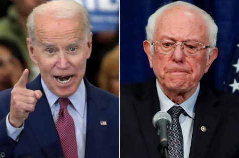 Joe Biden and Bernie Sanders compete for Democratic nomination