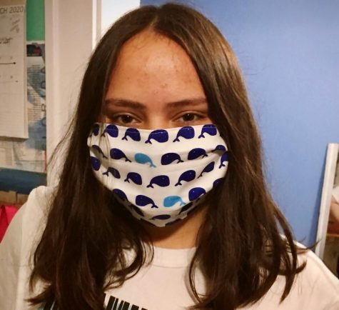 Ana Font has spent most of her free time creating masks to donate.