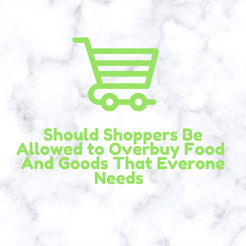 Multiple shoppers lately have been hoarding food and this article details if you are entitled to that or if you should consider other people and their situation when you go out shopping during these uncertain timed.