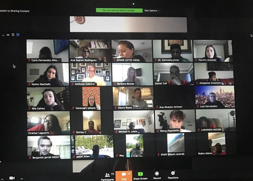 Members of the School Board, Principals, Student Activities Directors and Student Representatives met on a Zoom call to discuss holding cancelled senior activities during later dates.