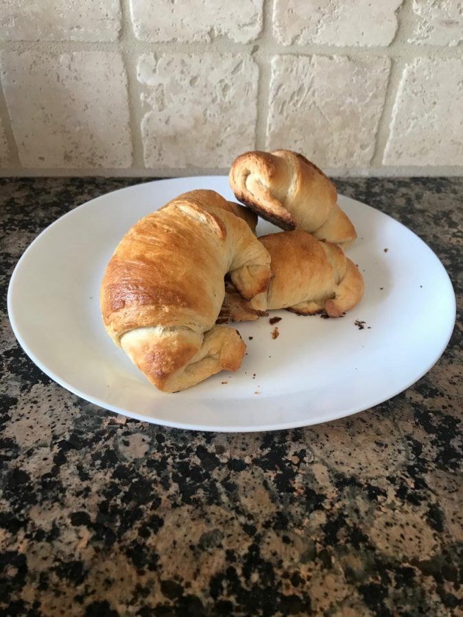 Croissants when they are completed.