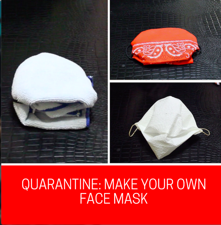 Considering the shortage of medical supplies that stores are experiencing, people can be creative and make their own face masks from home.