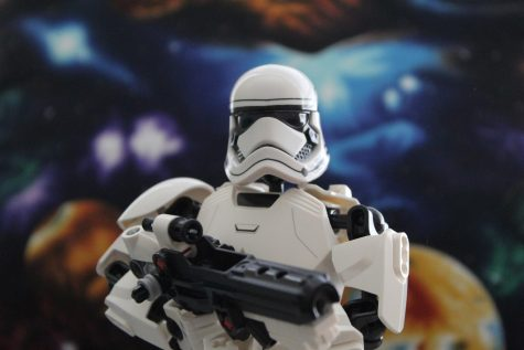 This Stormtropper stands ready to defend the First Order.
