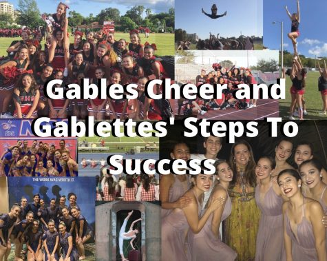 A collection of photos found in the @cghs_cheer and @gablettesdanceteam Instagram pages highlighting their best and fun moments together.